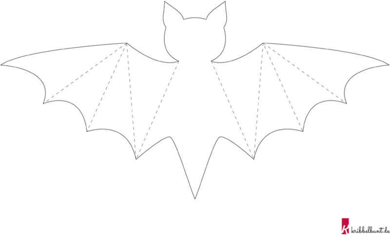 Bat Template Kribbelbunt
