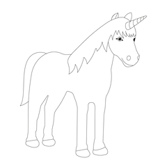 painting templates horses & unicorns - free of charge as